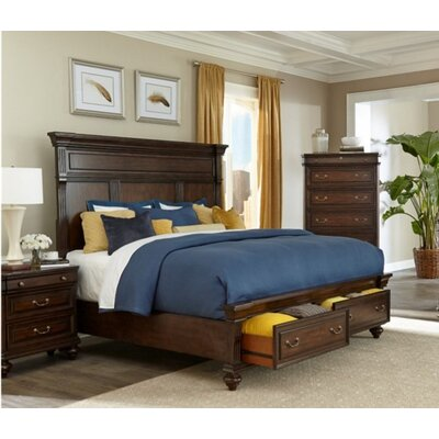 Louvre Storage Panel Bed Size: Queen