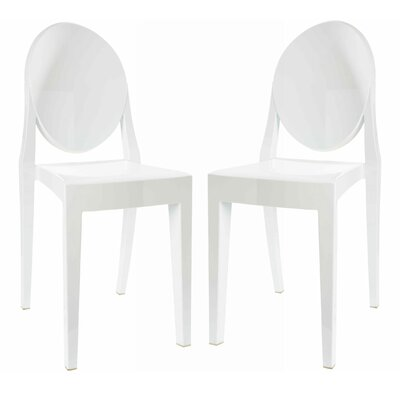 Bentlee Dining Chair Color: White