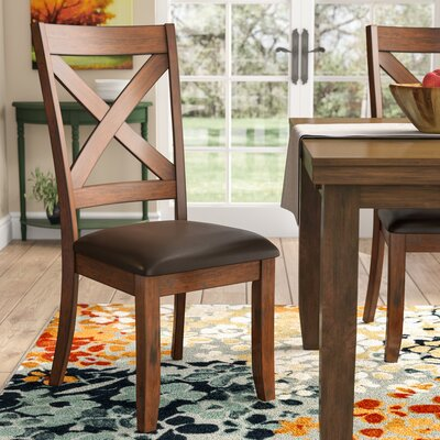 Vivien Side Chair (Set of 2) Color: Burnished Saddle Brown