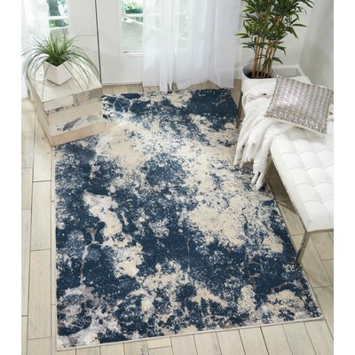 Mallard Beige/Blue Area Rug Rug Size: Rectangle 8 x 105