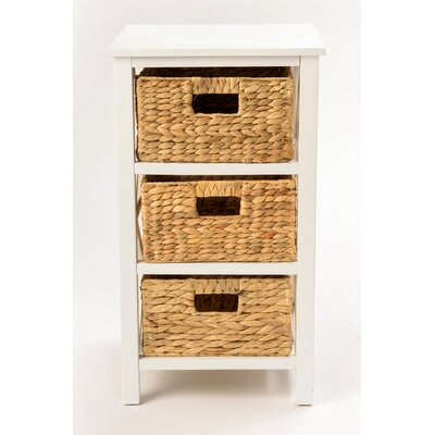 Altenpohl End Table with Storage Color: White