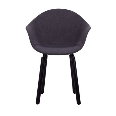 Castillo Armchair Upholstery: Dark Gray, Finish: Black