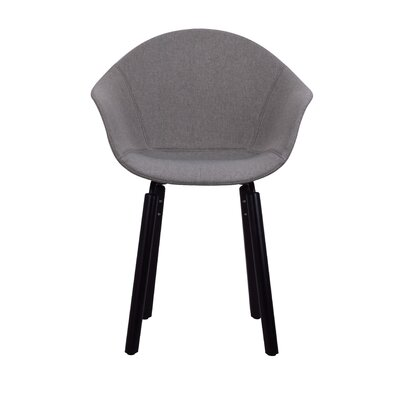 Castillo Armchair Upholstery: Gray, Finish: Black