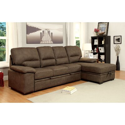 Karratha Sleeper Sectional Upholstery: Brown
