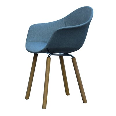 Castillo Armchair Upholstery: Blue, Finish: Natural