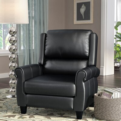 Lofton Manual Recliner Upholstery: Black