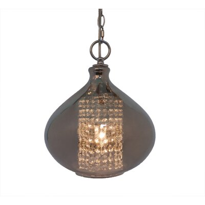 Pokorny Crystal Glass 1-Light Globe Pendant Finish: Smoke
