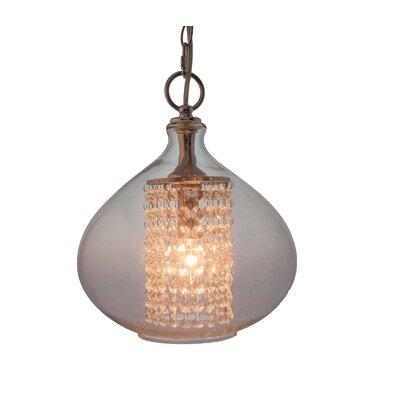 Pokorny Crystal Glass 1-Light Globe Pendant Finish: Clear