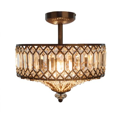 Moneta 2-Light Semi Flush Mount