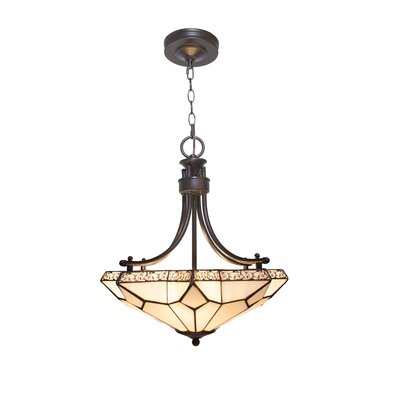 Mongillo Stained Glass 3-Light Mini Chandelier