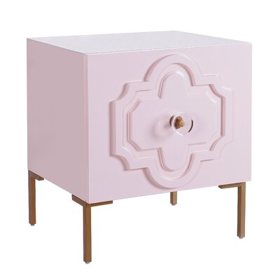 Stepney End Table with Storage Color: Pink
