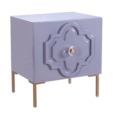 Stepney End Table with Storage Color: Gray