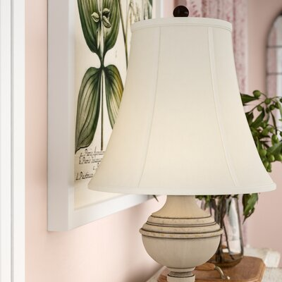 14 Silk/Shantung Bell Lamp Shade Color: White