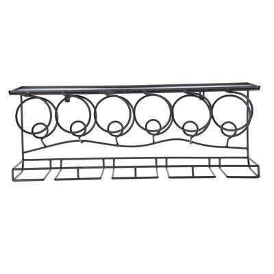 Osbourne 6 Bottle Wall Mounted Wine Rack