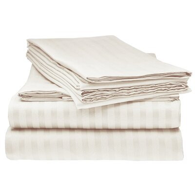 Kawakami Premium Deep Pocket Bed Microfiber Sheet Set Size: Queen, Color: Cream