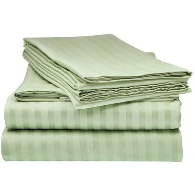 Kawakami Premium Deep Pocket Bed Microfiber Sheet Set Size: King, Color: Sage