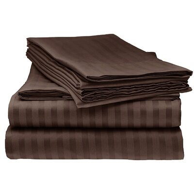 Kawakami Premium Deep Pocket Bed Microfiber Sheet Set Size: King, Color: Taupe