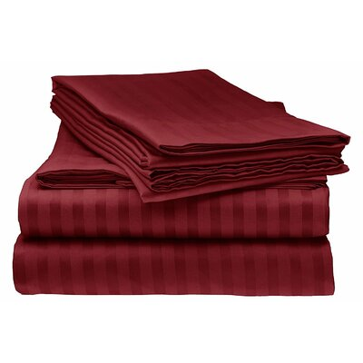 Kawakami Premium Deep Pocket Bed Microfiber Sheet Set Size: King, Color: Burgundy