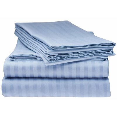 Kawakami Premium Deep Pocket Bed Microfiber Sheet Set Size: Queen, Color: Light Blue