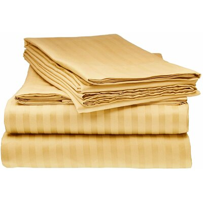 Kawakami Premium Deep Pocket Bed Microfiber Sheet Set Size: Queen, Color: Gold