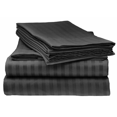 Kawakami Premium Deep Pocket Bed Microfiber Sheet Set Size: Full, Color: Black