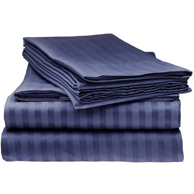 Kawakami Premium Deep Pocket Bed Microfiber Sheet Set Size: King, Color: Navy