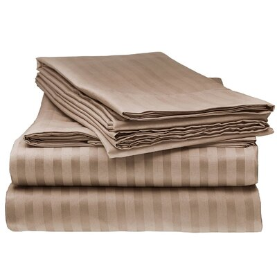 Kawakami Premium Deep Pocket Bed Microfiber Sheet Set Size: King, Color: Mocha