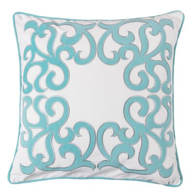 Hepp Applique Velvet Throw Pillow Color: Turquoise