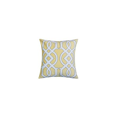 Hepp Applique Velvet Throw Pillow Color: Yellow