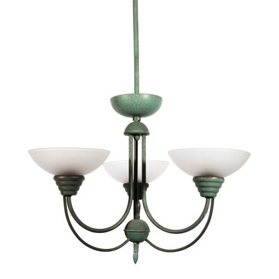 Frandsen 3-Light Candle-Style Chandelier Finish: Aged Verdant