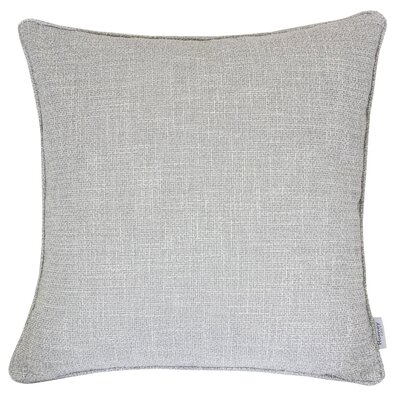 Textured Linen Throw Pillow Color: Silver