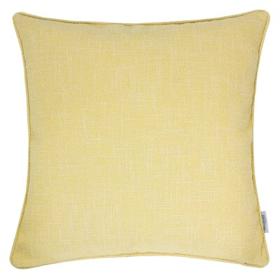 Textured Linen Throw Pillow Color: Yellow