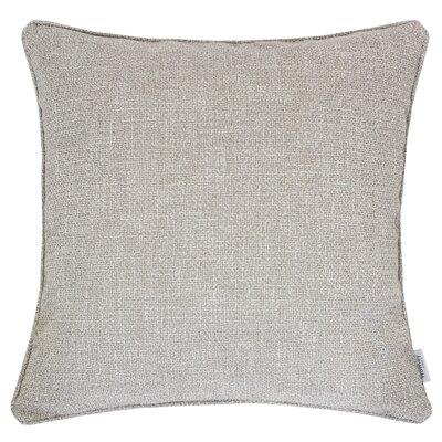 Textured Linen Throw Pillow Color: Ecru
