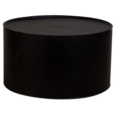 Bastow Hammered Coffee Table Color: Black, Size: 19.5 H x 35 W x 35 D