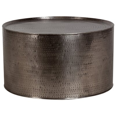 Bastow Hammered Coffee Table Color: Gray, Size: 19.5 H x 35 W x 35 D
