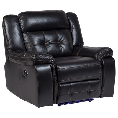 Fossen Leather Power No Motion Recliner