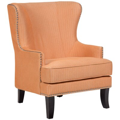 Bessler Wingback Chair Upholstery: Orange