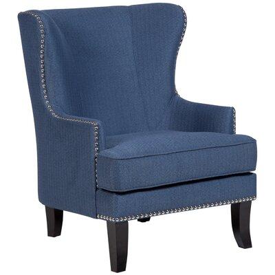 Bessler Wingback Chair Upholstery: Blue