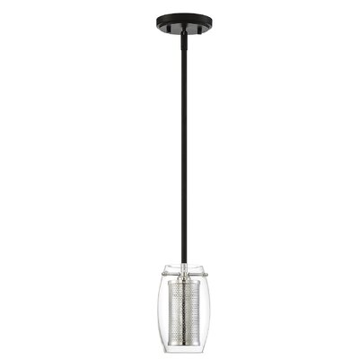 Depp 1-Light Mini Pendant Finish: Black/Chrome