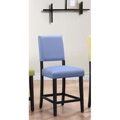 Hepner Upholstered Dining Chair (Set of 2) Upholstery Color: Blue