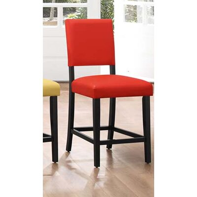 Hepner Upholstered Dining Chair (Set of 2) Upholstery Color: Red