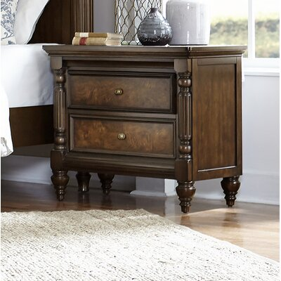 Gilmer 2 Drawer Nightstand
