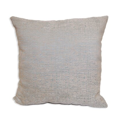Gaillard Distressed Chenille Throw Pillow Color: Aqua