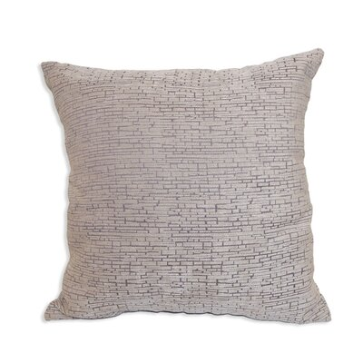 Gaillard Distressed Chenille Throw Pillow Color: Gray