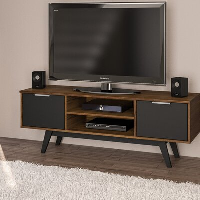 Charon 53 TV Stand Color: Dark Brown/Black