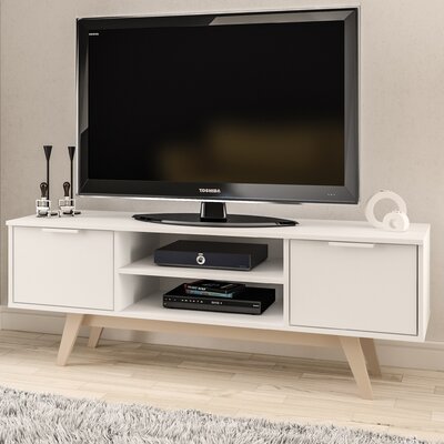 Charon 53 TV Stand Color: White/Oak