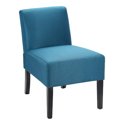 Chua Contemporary Side Chair Upholstery: Blue