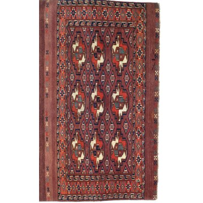 Russian Tekken Hand-Knotted Wool Rust Area Rug