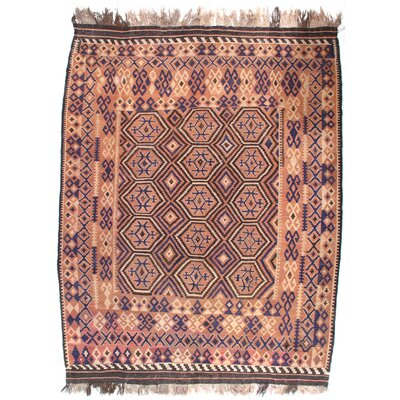 Afghan Baluch Hand-Knotted Wool Brown Area Rug