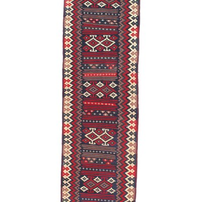 Persian Bakhtiari Hand-Knotted Wool Red/Black Area Rug